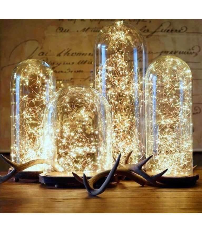 Чудо ночник, гирлянда в колбе, 120 огоньков, USB