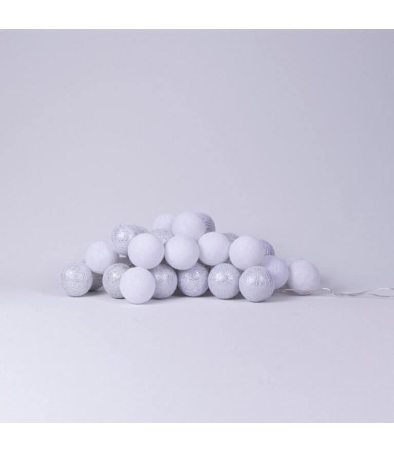 """Тайская гирлянда """"White&Silver"""" Metallic"""