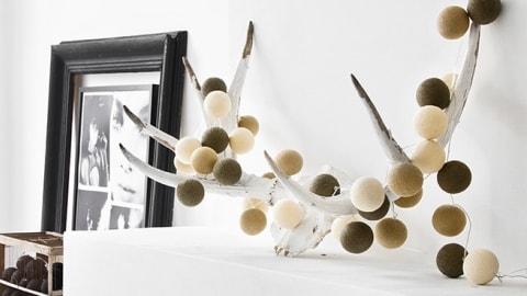 Гирлянды шарики фонарики тайские гирлянды cotton ball lights купить
