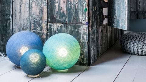 Шары торшеры из ниток, гигантcкие тайские шары люстры