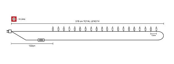 Хлопковая гирлянда из шариков 20 в линию