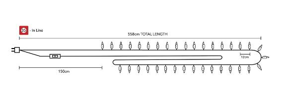 Тайские чудо фонарики на 35 шариков в линию