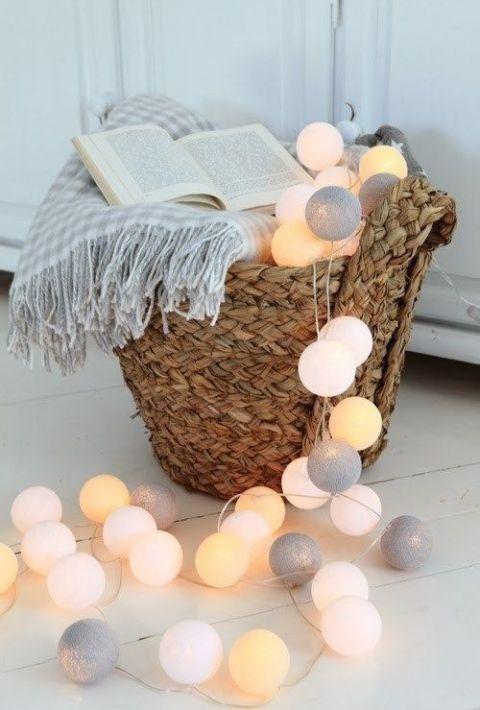 Шарики фонарики гирлянда тайская, чудо светильники